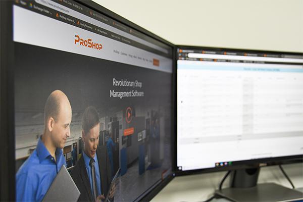 Proshop ERP system screen saver