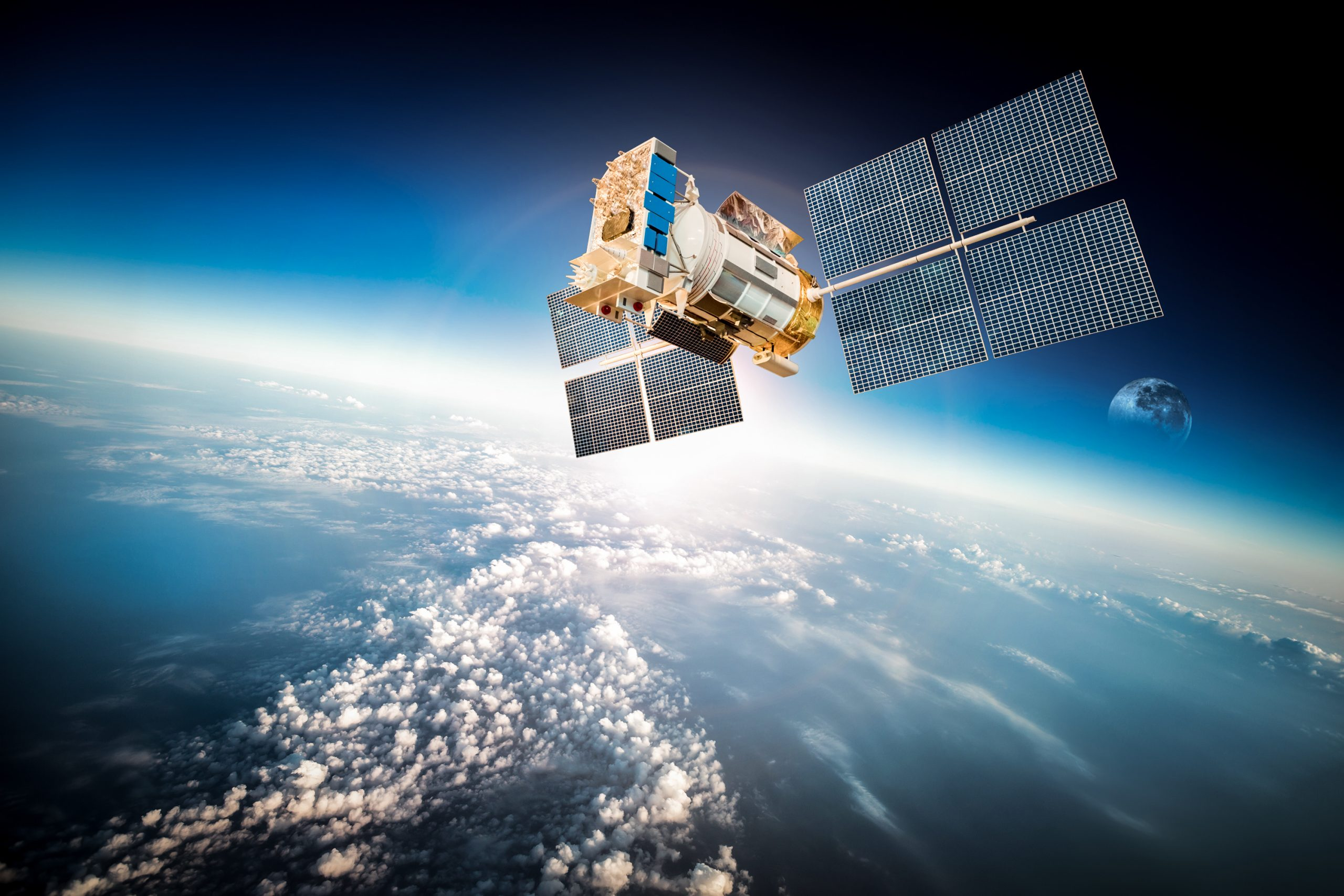 Aerospace Industry _ satellite stock image