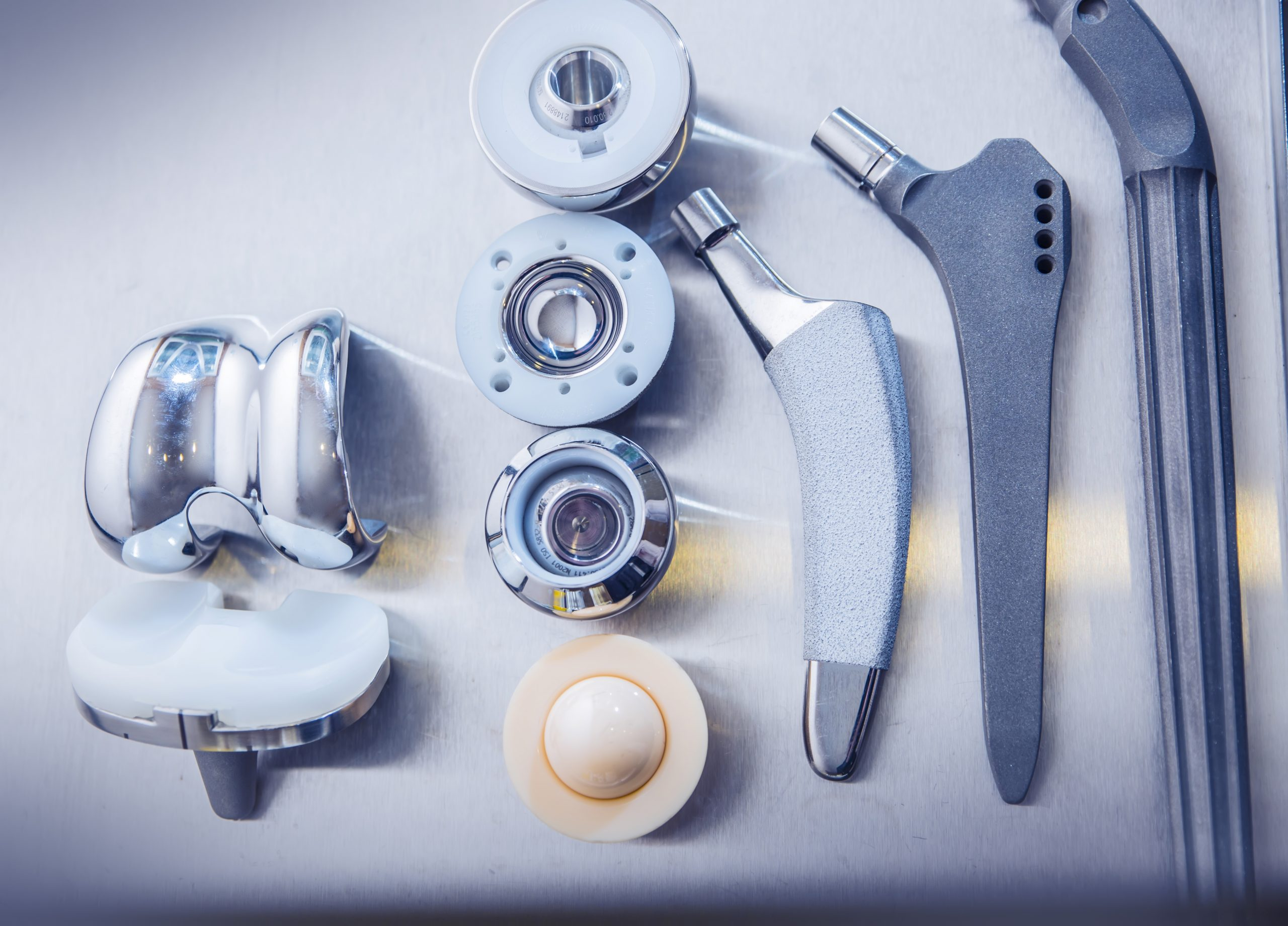 Medical industry image _ hip replacement parts stock image